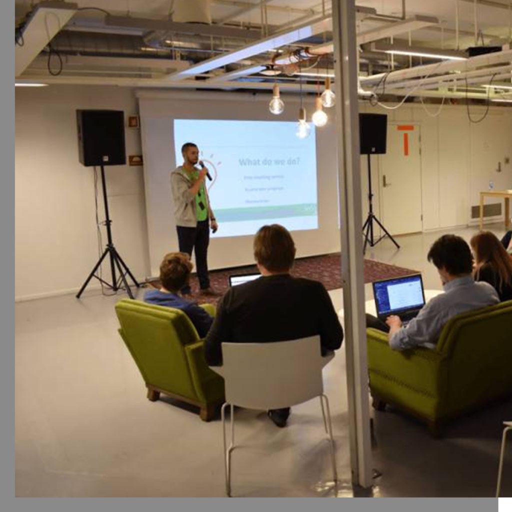 Speaker from Insj talking to an audience